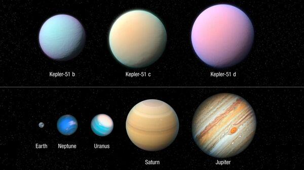 """Телескоп """"Хаббл"""" обнаружил сверхлегкие планеты"""