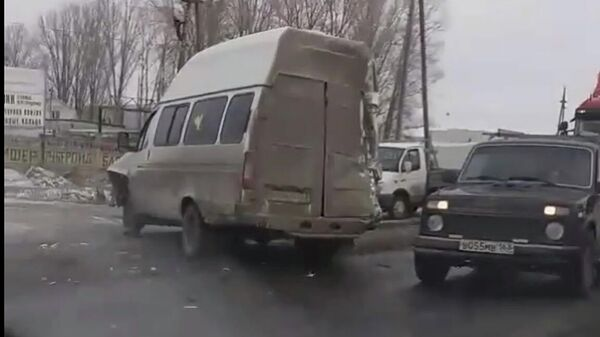 ДТП в городе Кинель Самарской области. 20 декабря 2019