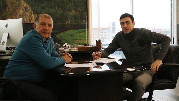 Президент футбольного клуба Урал Григорий Иванов с Юрием Ковтуном