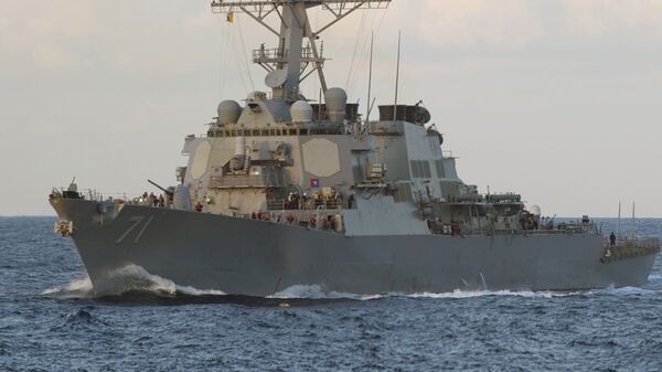 Американский ракетный эсминец USS Ross (DDG 71)