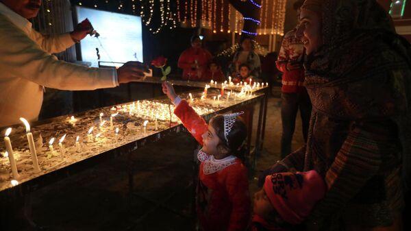 Празднование католического Рождества в Индии