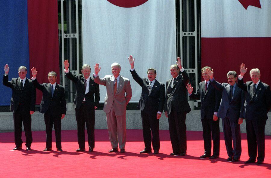 Премьер-министр РФ Сергей Степашин на 25-м саммите большой восьмерки в Кельне
