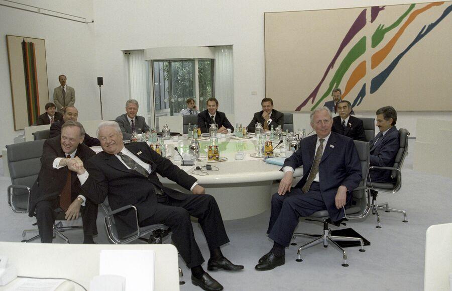 Заключительное заседание лидеров стран большой восьмерки в Кельне