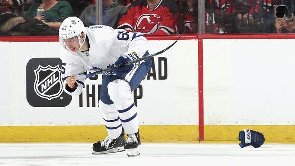 Российский форвард клуба НХЛ Торонто Илья Михеев