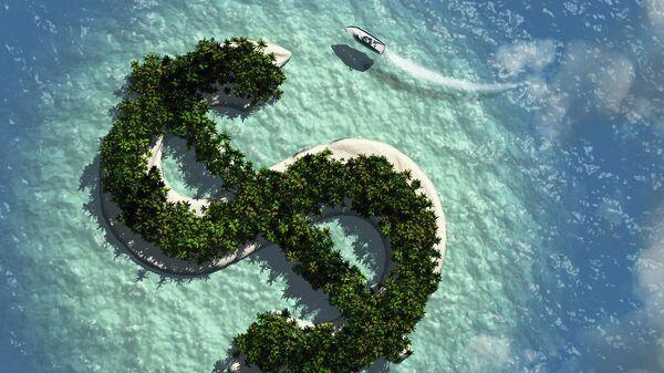 Остров в форме знака доллара