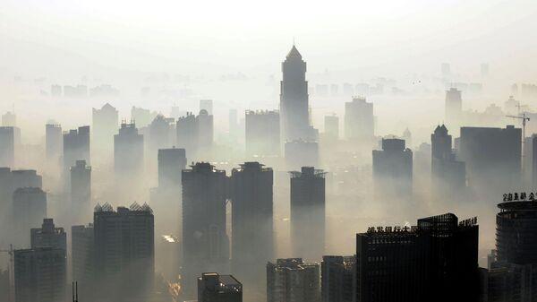 Панорама города Ухань в Китае
