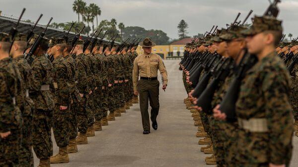 Новобранцы в учебном центре морской пехоты США в Сан-Диего. 14 декабря 2019