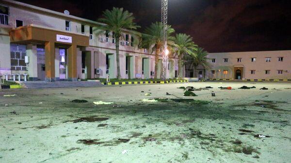 Последствия авиаудара по военному училищу в Триполи, Ливия