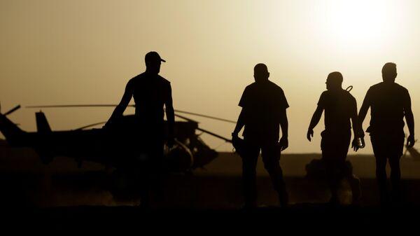 Французские военные на военной базе в деревне Тесалит на северо-востоке Мали