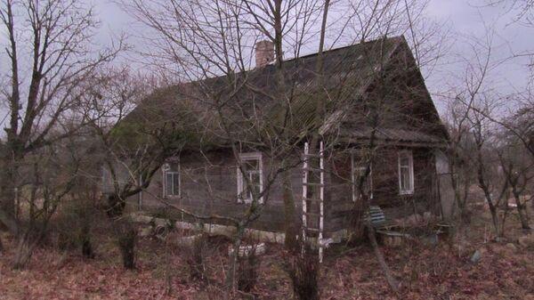 Дом в Миорском районе Витебской области, где произошло убийство гостя