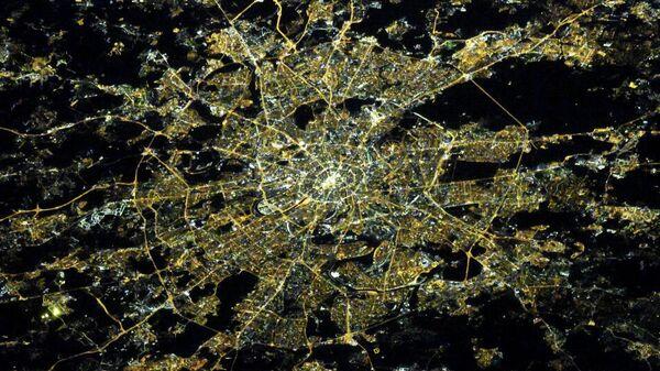 Фотография Москвы, сделанная с околоземной орбиты космонавтом Роскосмоса Олегом Кононенко