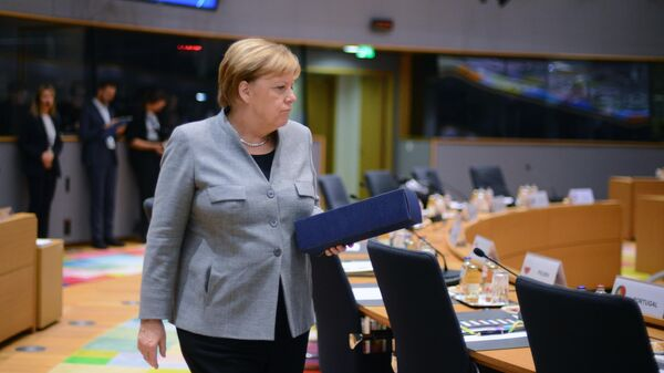 Федеральный канцлер ФРГ Ангела Меркель на саммите глав государств и правительств Евросоюза в Брюсселе