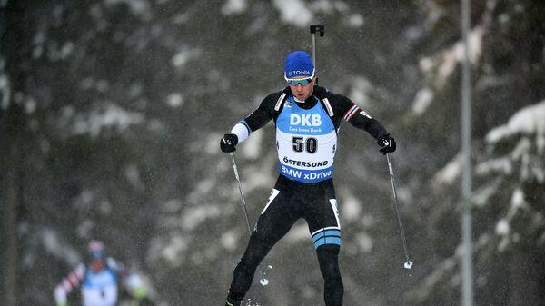Эстонский биатлонист Калев Эрмитс