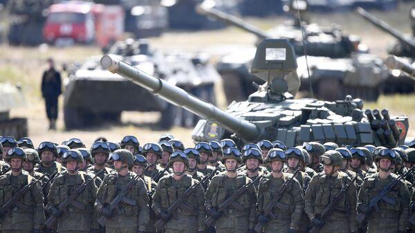 Военнослужащие армии России на полигоне Цугол в Забайкальском крае