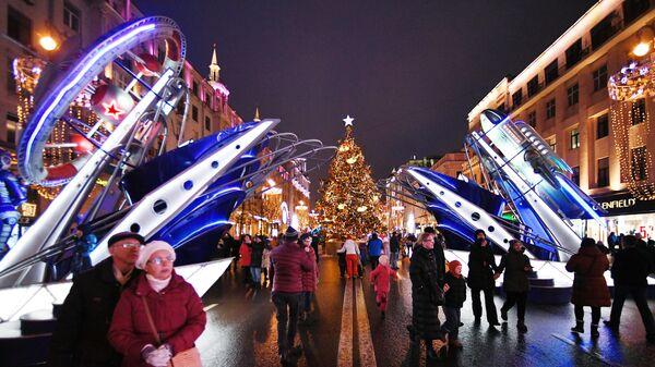 Новогоднее украшение центральных улиц Москвы