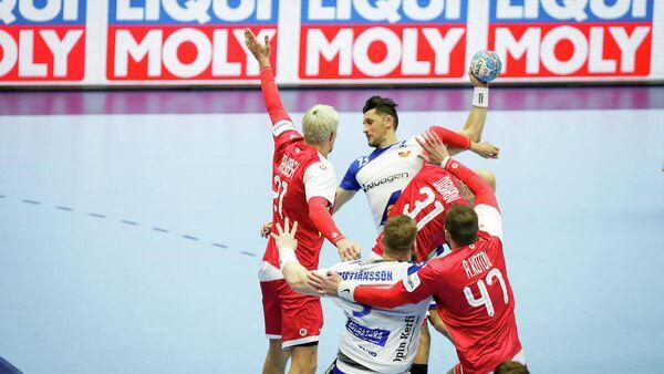 Матч чемпионата Европы по гандболу Исландия - Россия