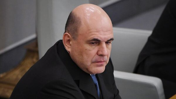 Премьер-министр РФ Михаил Мишустин на пленарном заседании Государственной Думы РФ