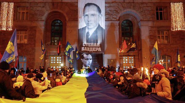 Шествие в честь Степана Бандеры в Киеве. 1 января 2020