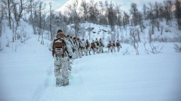 Американские морские пехотинцы во время учений в Норвегии
