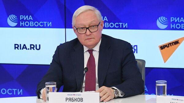 Сергей Рябков на пресс-конференции, посвященной началу председательства России в БРИКС в 2020 году. 20 января 2020