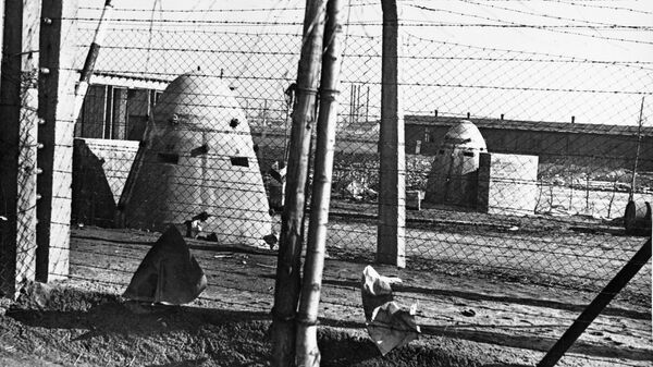 Концлагерь Освенцим. Бронеколпаки с пулеметными гнездами