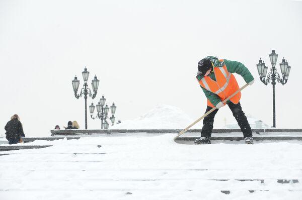 Сильный снегопад в Москве