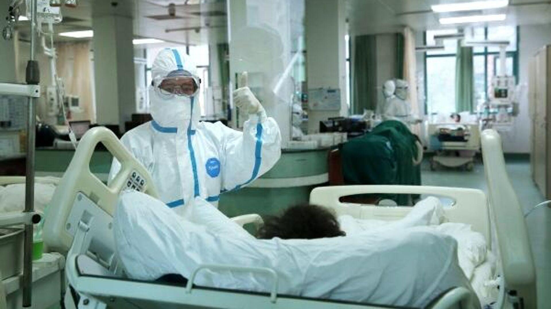 В Центральном госпитале города Ухань - РИА Новости, 1920, 19.01.2021