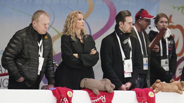 Тренеры Сергей Дудаков, Этери Тутберидзе и хореограф Давид Глейхенгауз