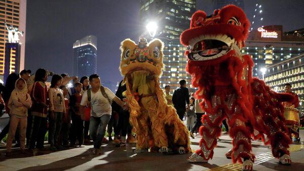 Празднование Нового года по лунному календарю в Джакарте, Индонезия