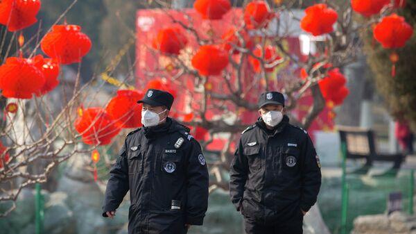 Сотрудники правоохранительных органов Китая в Пекине, КНР