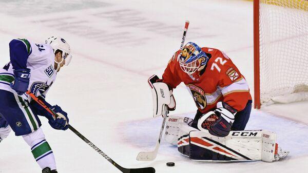 Сергей Бобровский в матче НХЛ.
