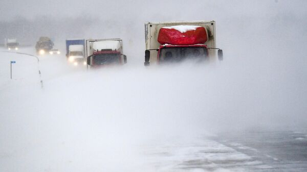 В Чувашии из-за метели частично перекрыли федеральные дороги
