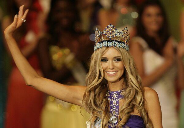 Ксения Сухинова завоевала титул Мисс Мира - 2008