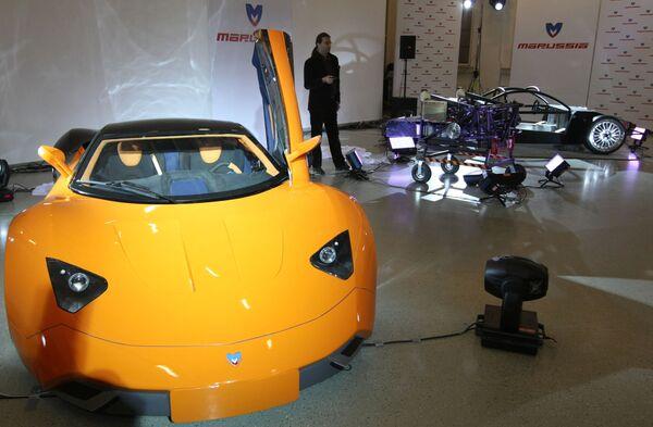 Николай Фоменко презентовал первый российский серийный болид Marussia