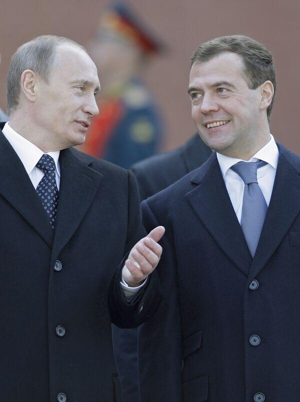 Медведев и Путин не будут конкурировать на выборах 2012 года
