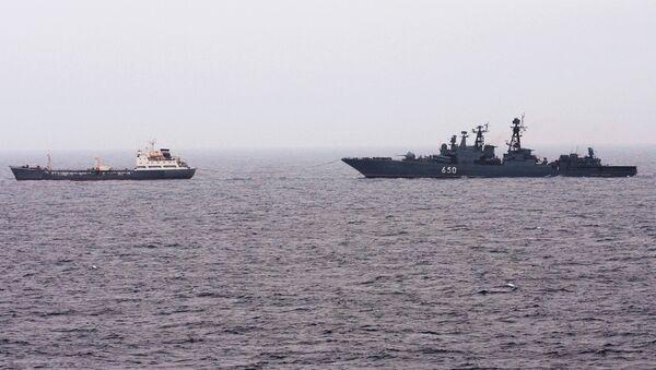 Корабль Адмирал Чабаненко приступит к охране судов от пиратов