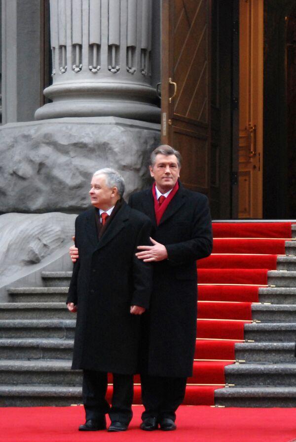 Виктор Ющенко и Лех Качиньский
