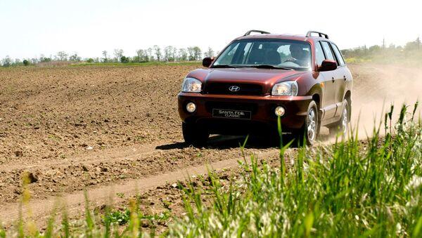 Испытание джипа сборки Таганрогского автомобильного завода