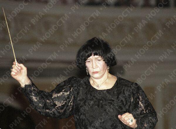 Вероника Дударова на выступлении