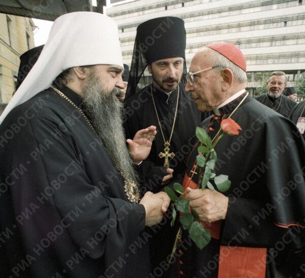 Митрополит Минский и Белорусский Филарет и кардинал Агостино Казароли