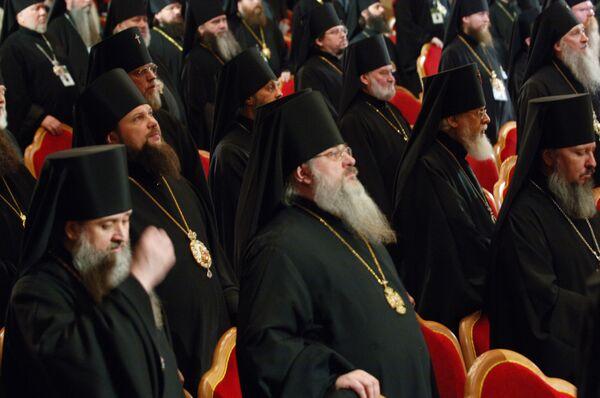Архиерейский собор Русской православной церкви проходит в Храме