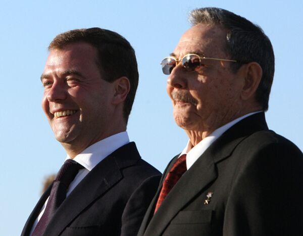 4 февраля завершается недельное пребывание в России председателя Государственного совета и Совета министров Республики Куба Рауля Кастро