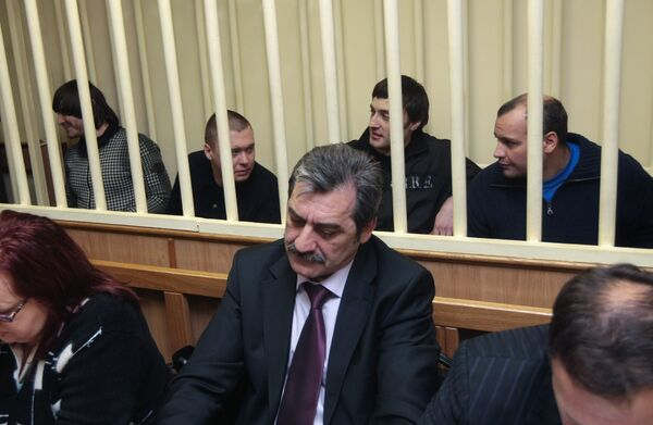 Во время заседания Московского окружного суда