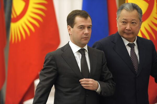 Лидеры РФ и Киргизии обсудят вопрос о создании российской военной базы