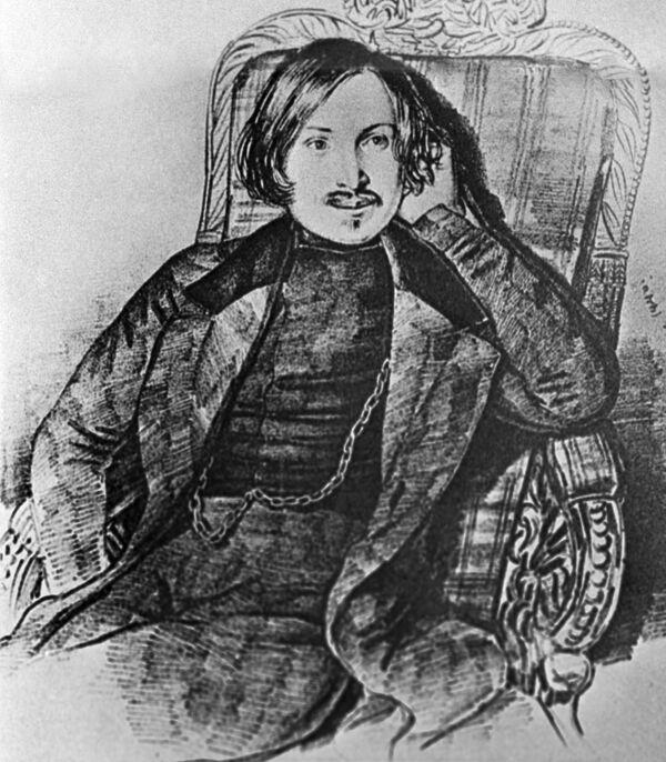 Рисунок художника Мазера Гоголь