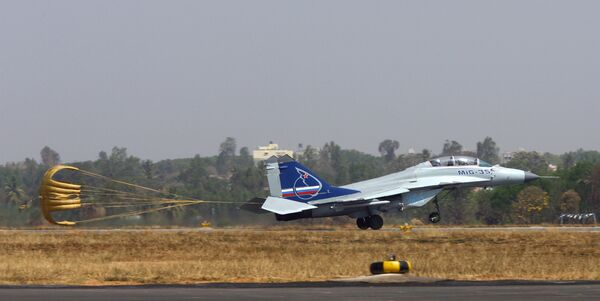 Российский истребитель МиГ-35 на Aero India-2009 в Бангалоре