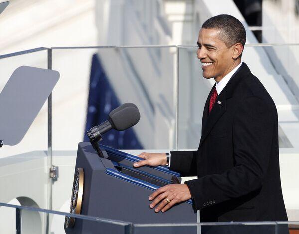 Барак Обама на церемонии инаугурации