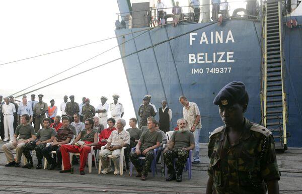 Экипаж украинского сухогруза Фаина