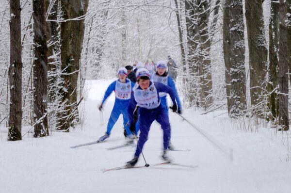Гонка Лыжня России-2009 в Великом Новгороде