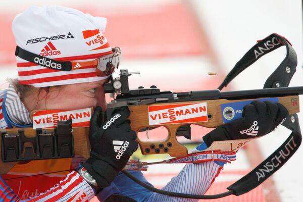 Российская биатлонистка Оксана Неупокоева
